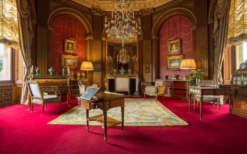 Tower Drawing Room with a writing desk owned by Marie Antoinette