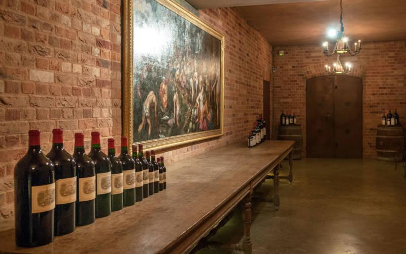 Inside the wine cellars