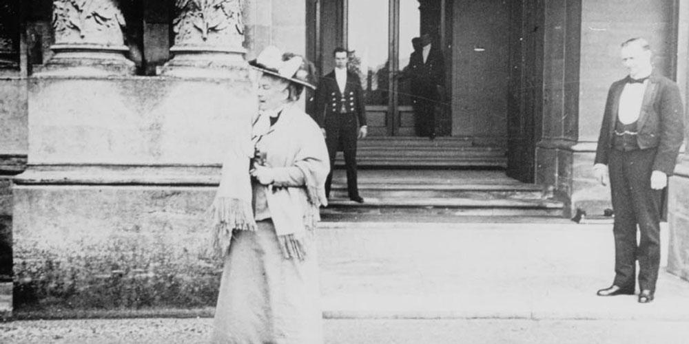 Miss Alice at the front door, 1910