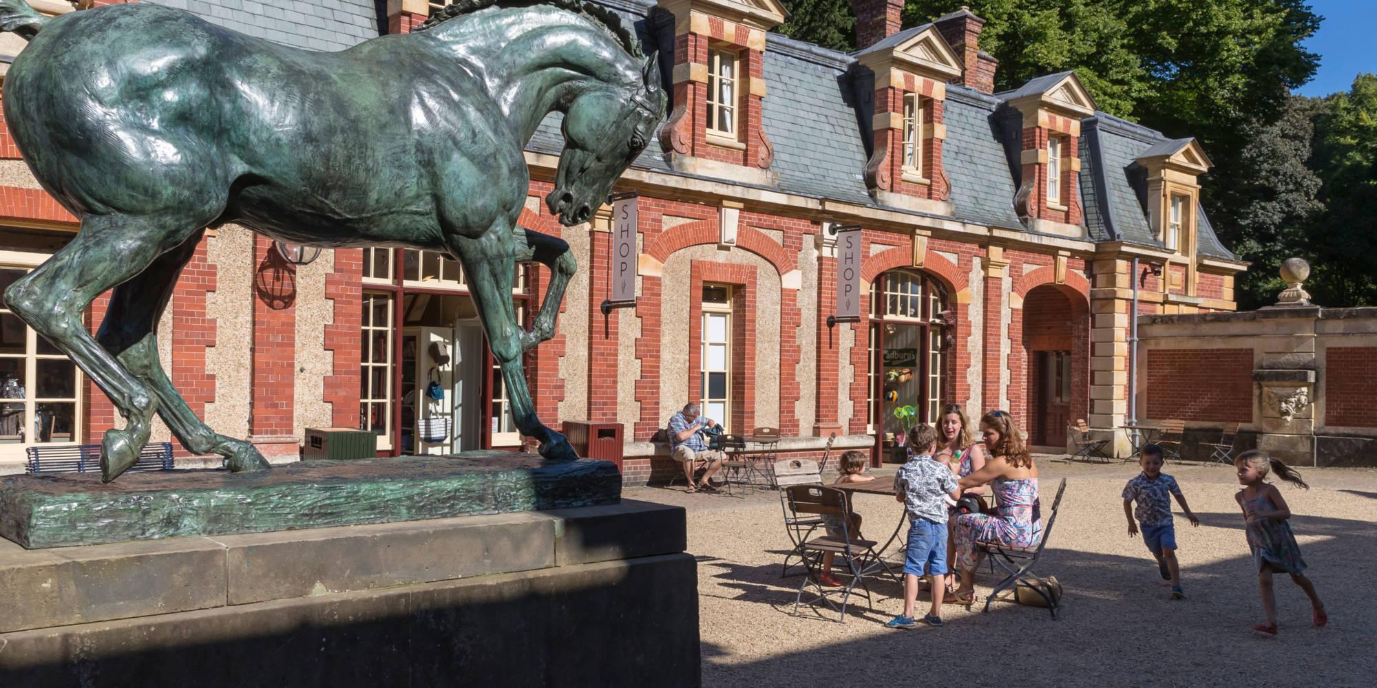 Stables courtyard with Copenhagen horse statue