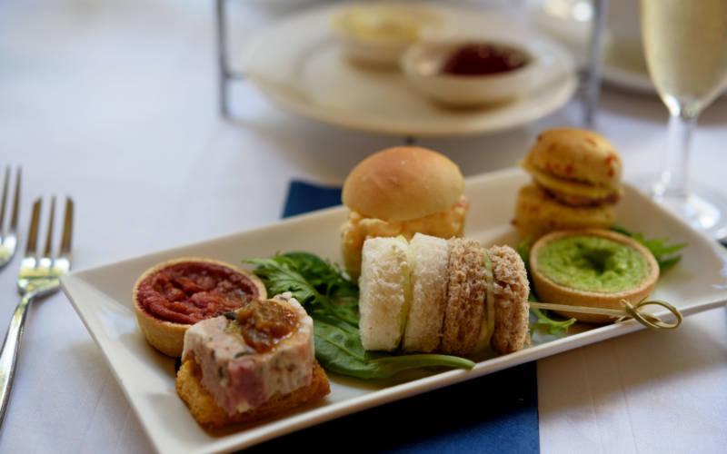 Afternoon tea, savoury selection