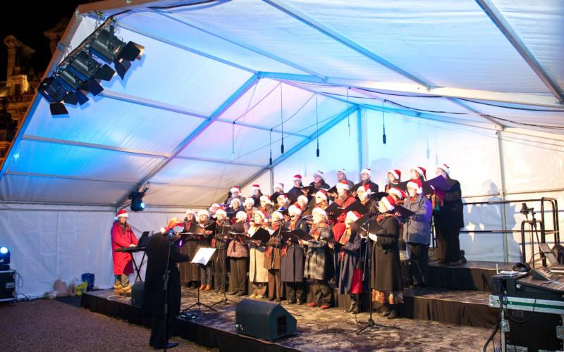 Waddesdon staff choir singing at Christmas
