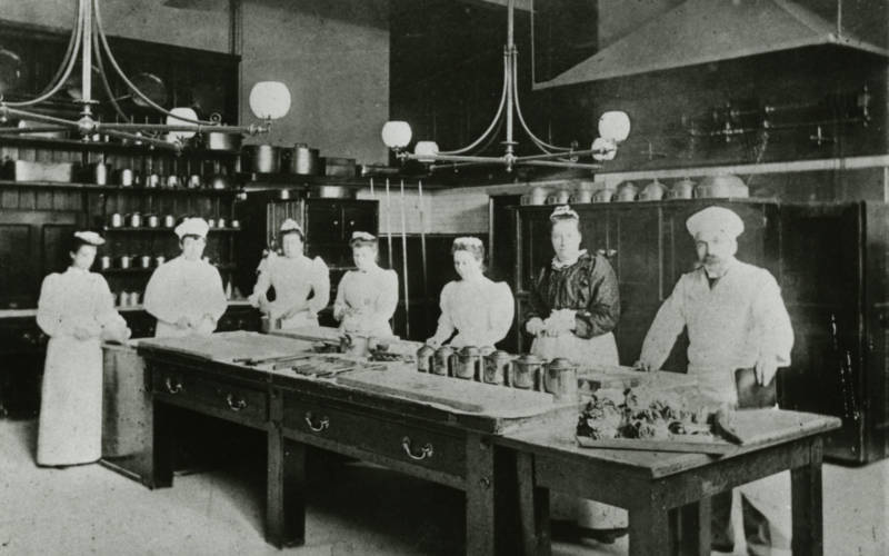 Waddesdon kitchen staff, 1900