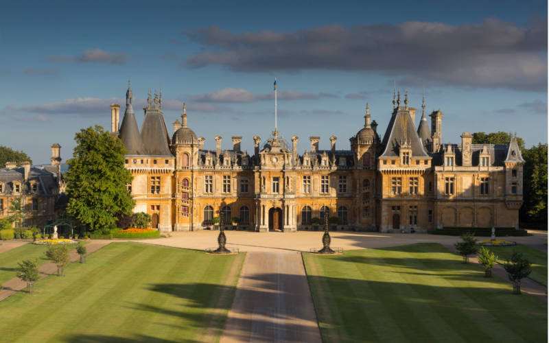 Front view of Waddesdon Manor