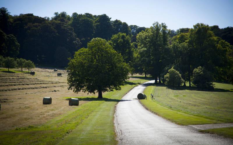 Estate drive with bales Sasa Savic ©Rothschild Foundation, Waddesdon Manor