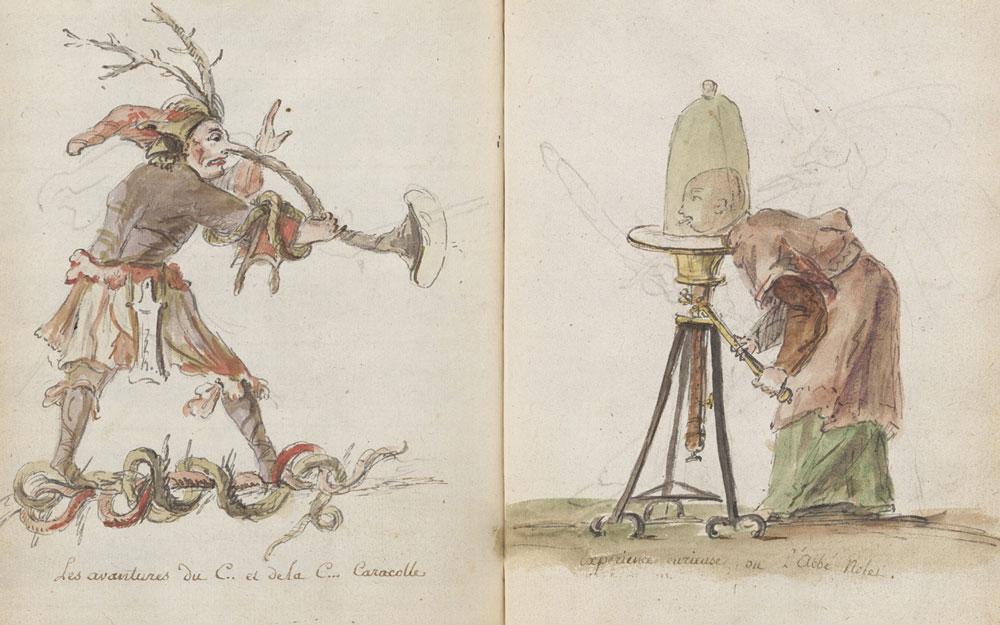 Charles-Germain de Saint-Aubin, Les avantures du C.. et de la C… Caracolle, c. 1740-1775, acc. no. 675.208