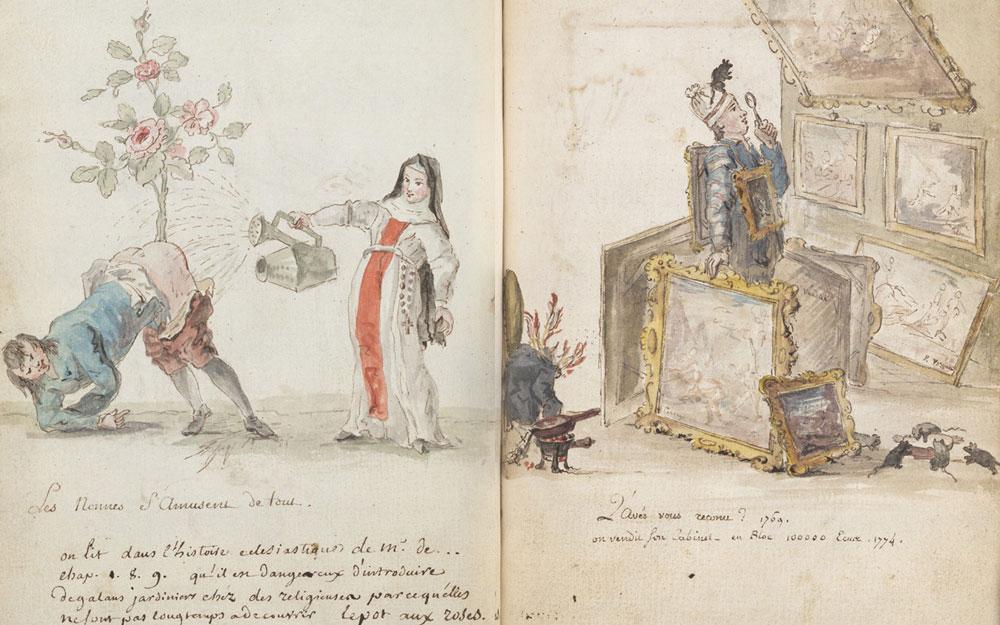 Charles-Germain de Saint-Aubin, Les Nonnes S'Amusent de tout, c. 1740-1775, acc. no. 675.292