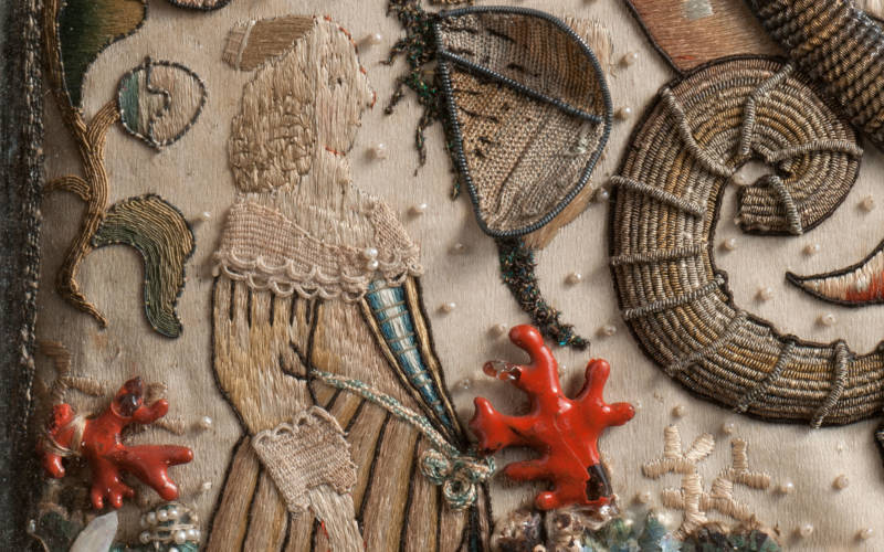 Embroidered picture, 1650-75, acc. no. 7172