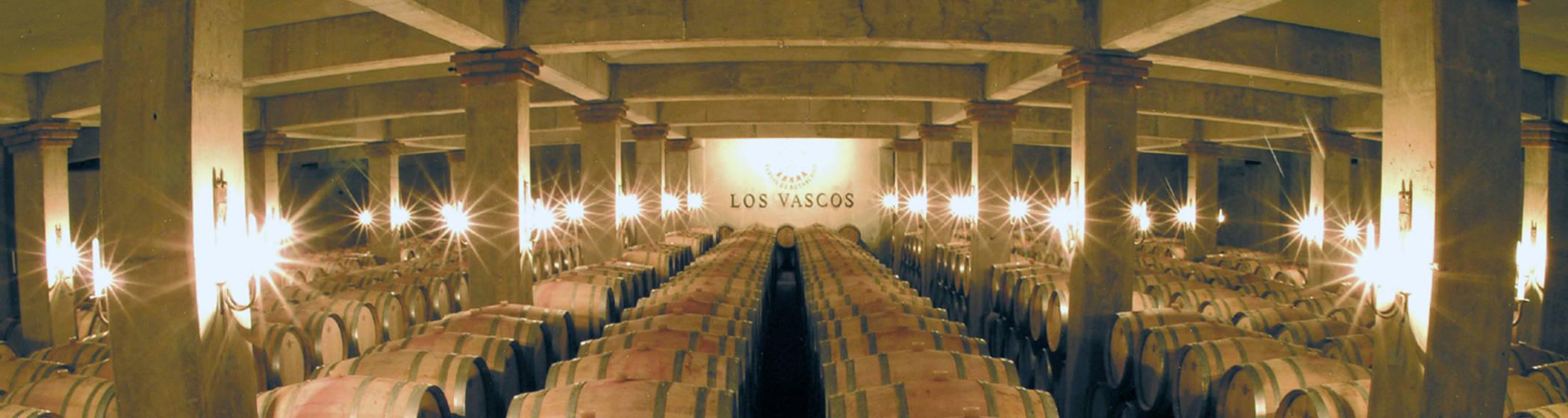 The cellars at Los Vascos