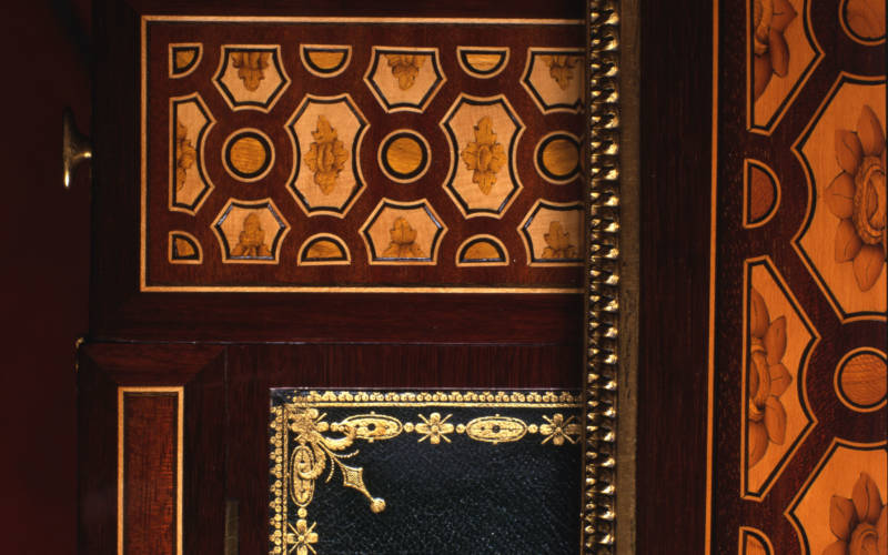 Detail of writing table made for Marie-Antoinette by Jean-Henri Riesener, 1780-85
