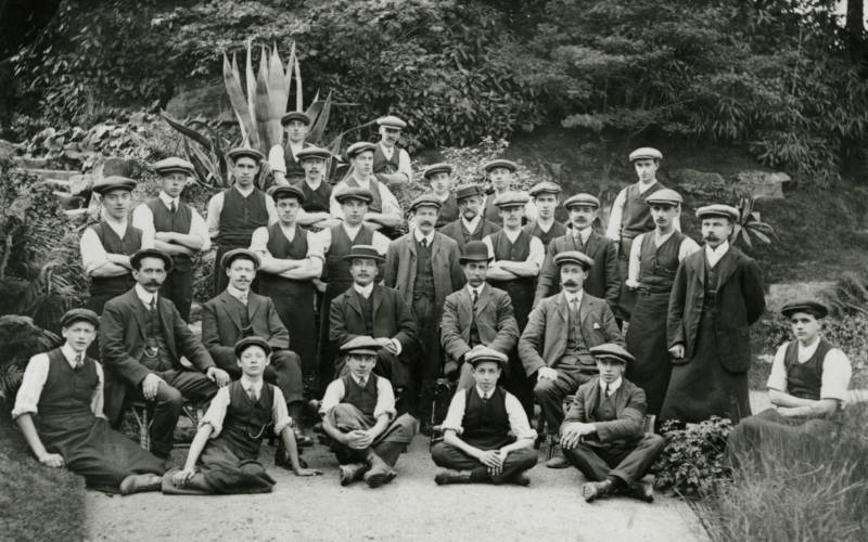 Gardeners at Waddesdon, c. 1910
