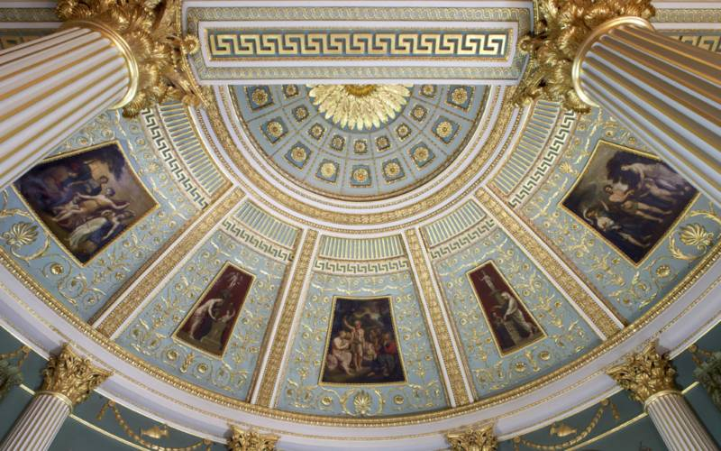 The ceiling of the Palm Room at Spencer House
