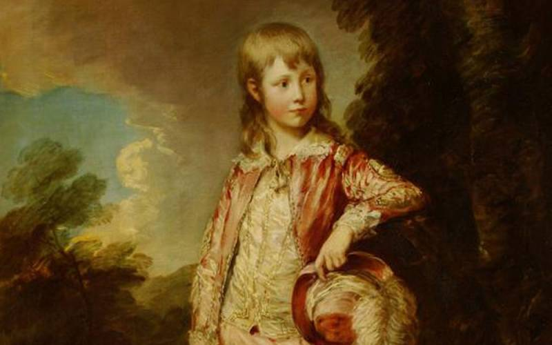 Painting of Francis Nicholls 'The Pink Boy'