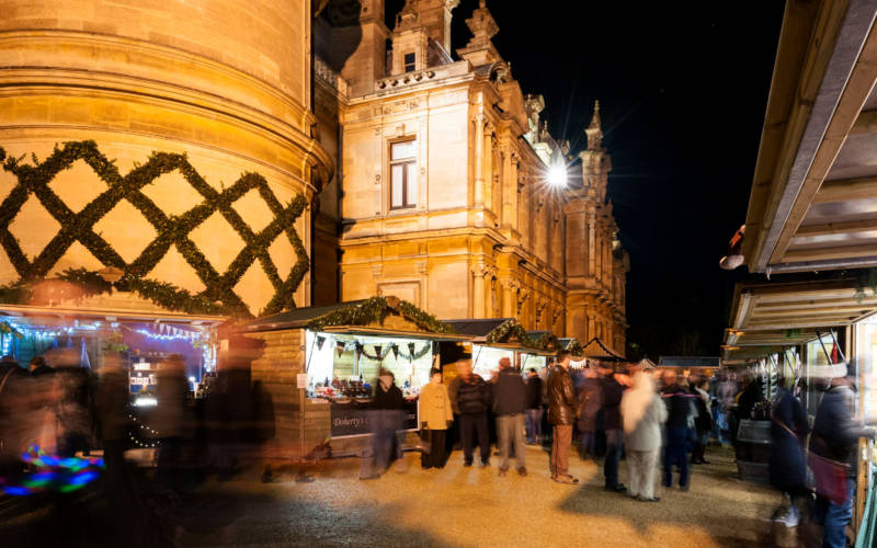Evening stalls at the Christmas Fair
