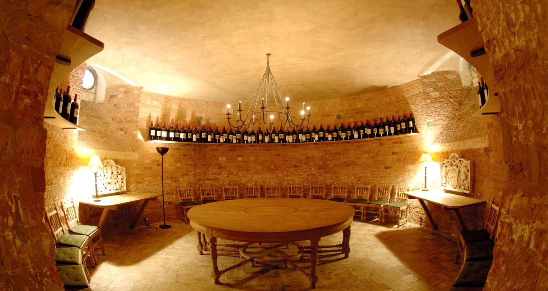 The tasting room in the Waddesdon Wine Cellars