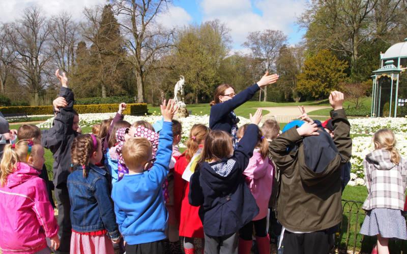 School visit grounds tour