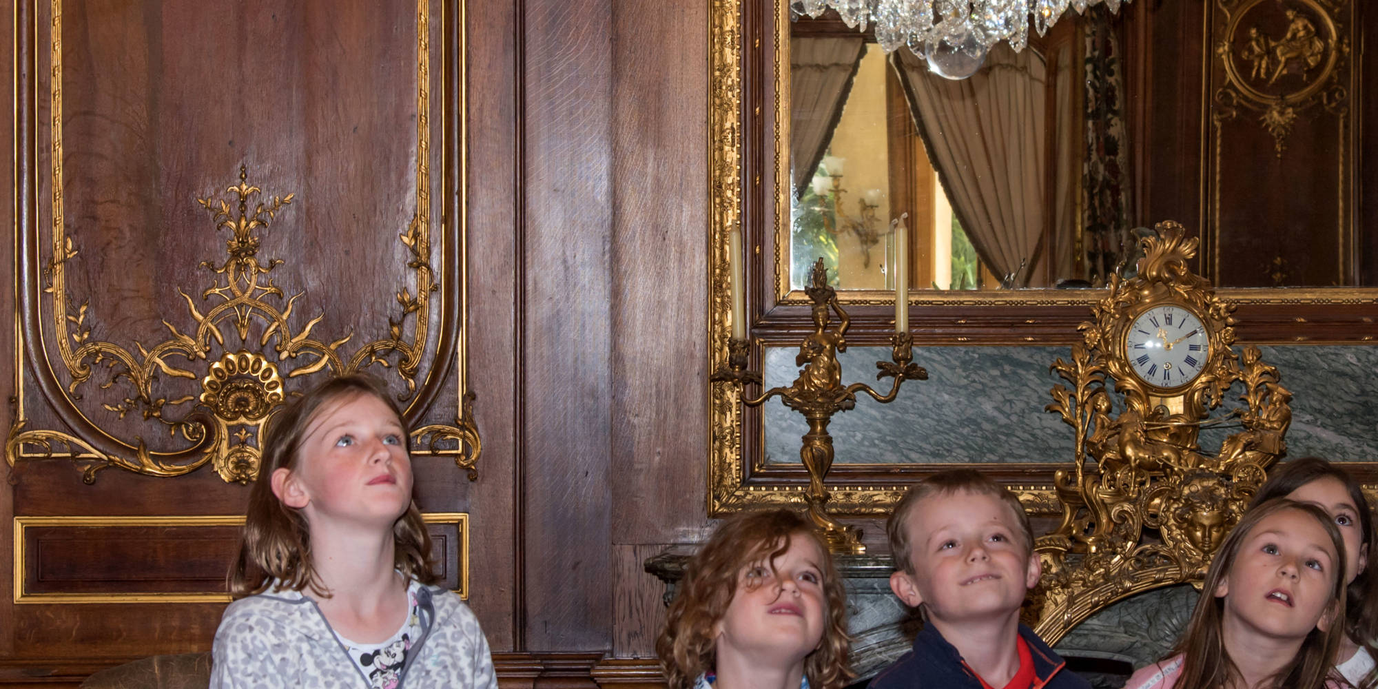 Children on the behind the scenes tour