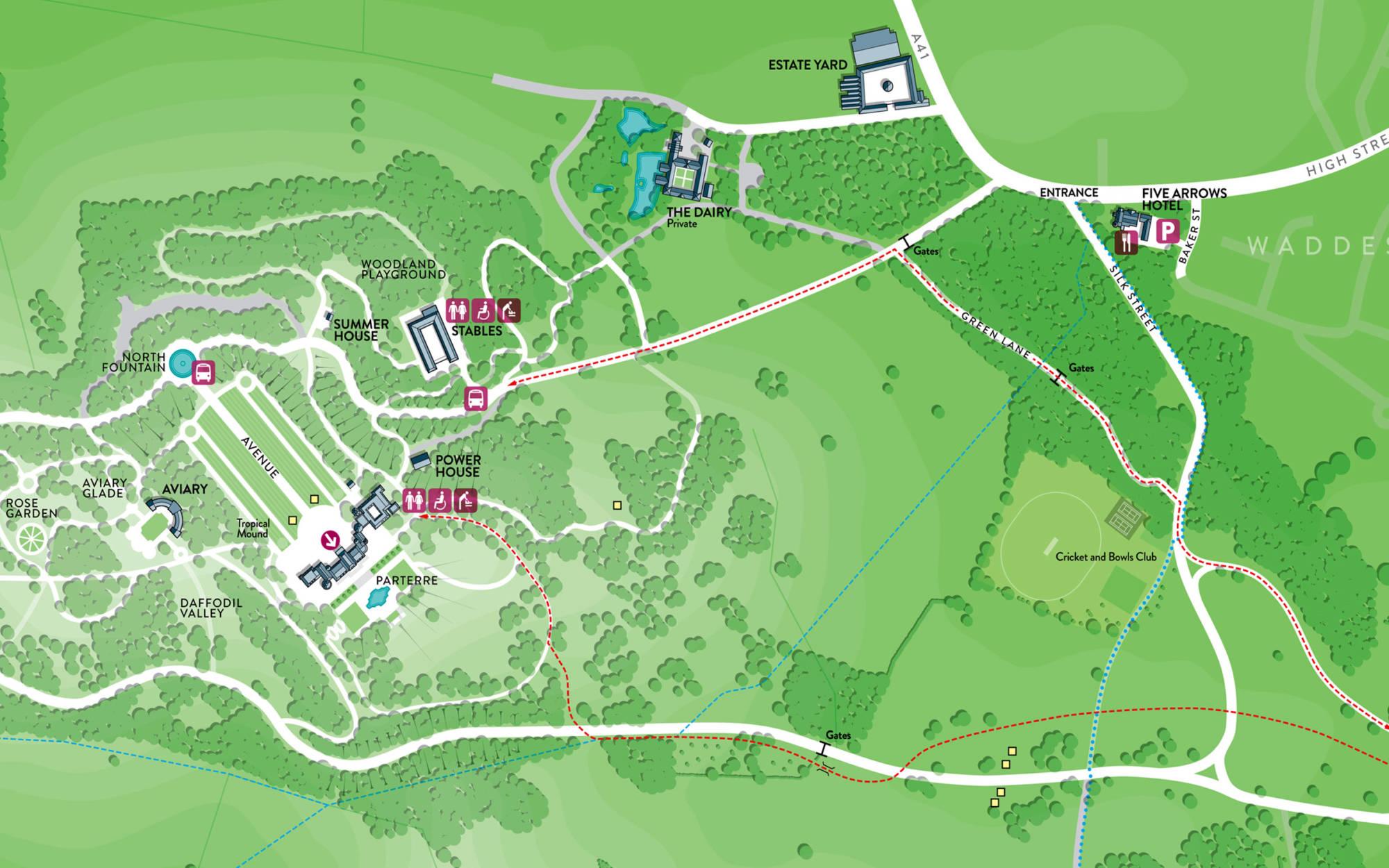 Floor Plan Interest Garden Walks Amp Maps Waddesdon Manor