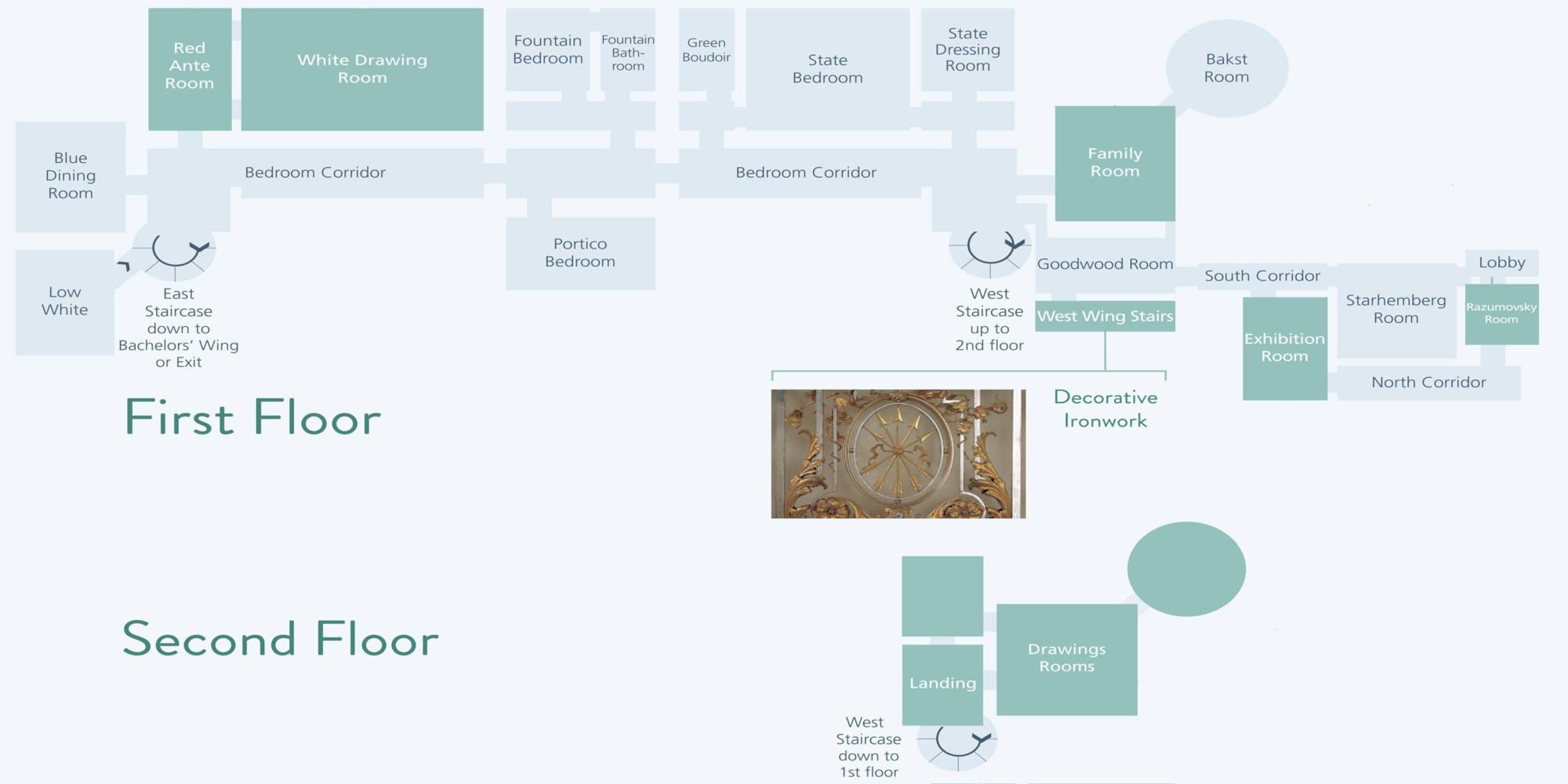 floorplans waddesdon manor garden walks amp maps waddesdon manor