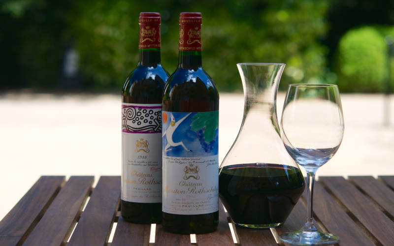 Shop-Chateau-Mouton-1982-red-wine-carafe-and-glass-lifestyle-3000x1975
