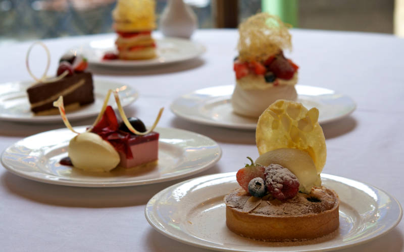 Manor Restaurant food pudding