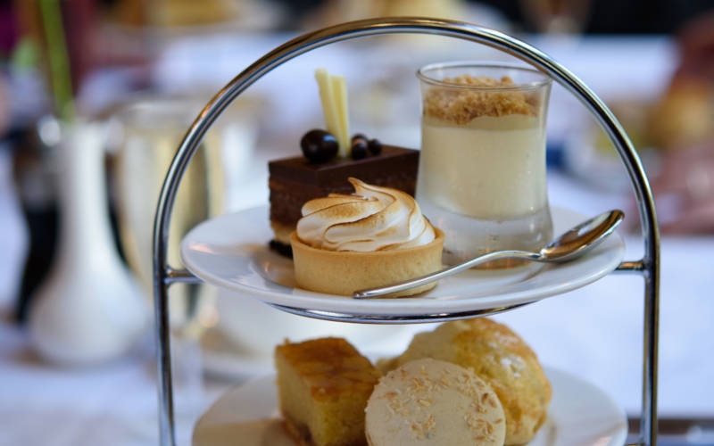 Afternoon tea cakes, Manor Restaurant