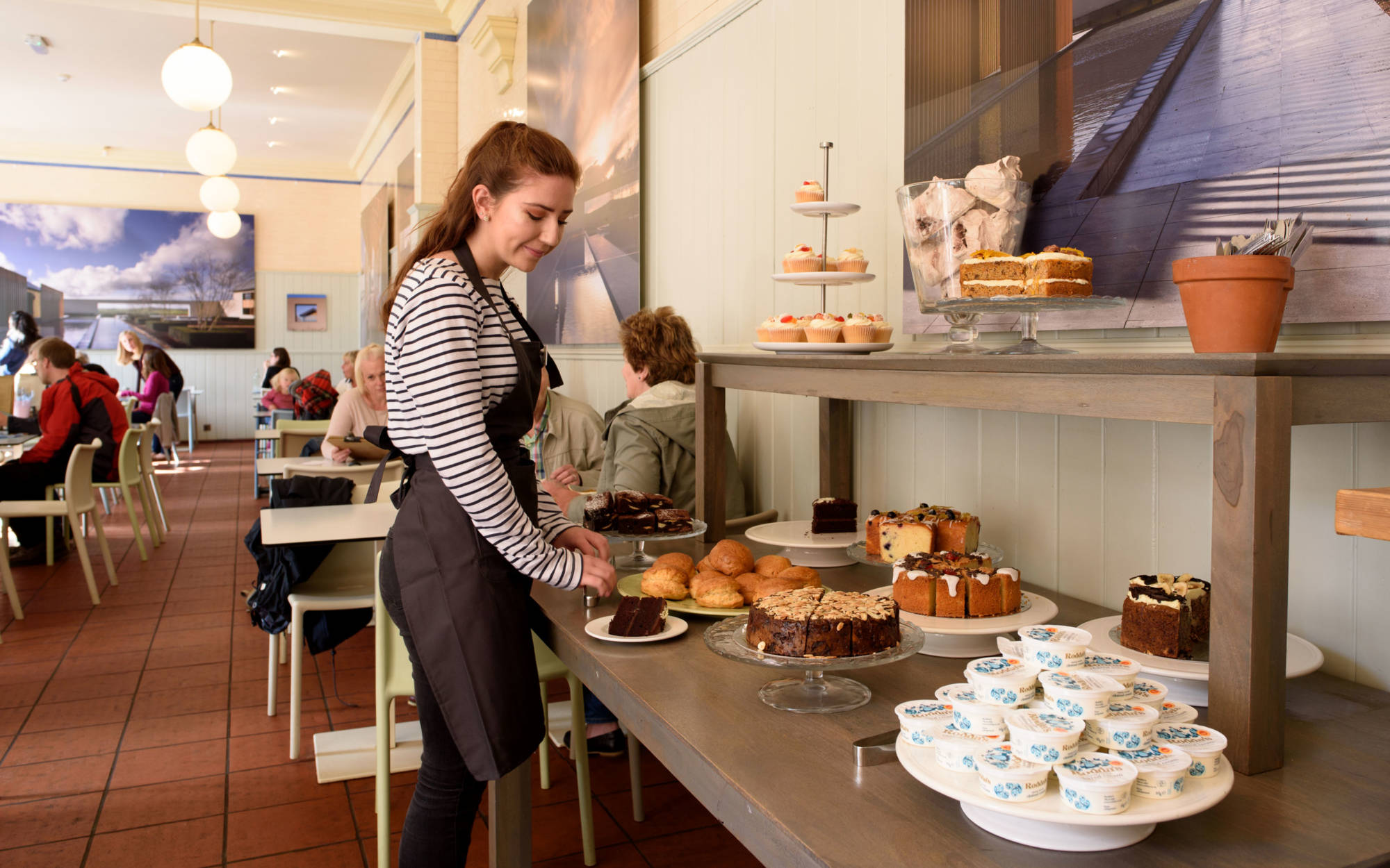Stables cafe cakes staff