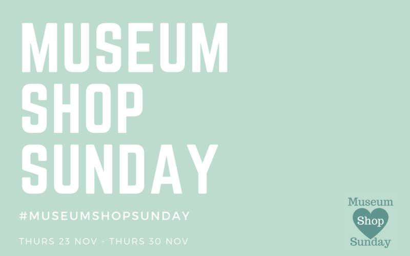 Museum shop Sunday banner