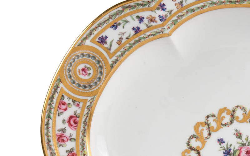 Plate (assiette unie) from the Marie-Antoinette service