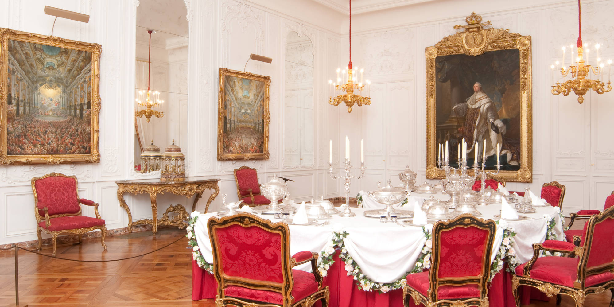 corporate manor white dinning room