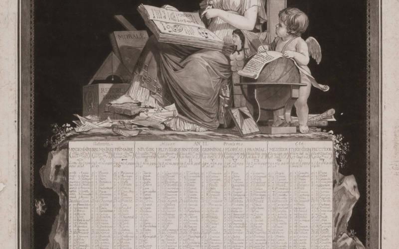Almanac Titled: 'Republican calendar'