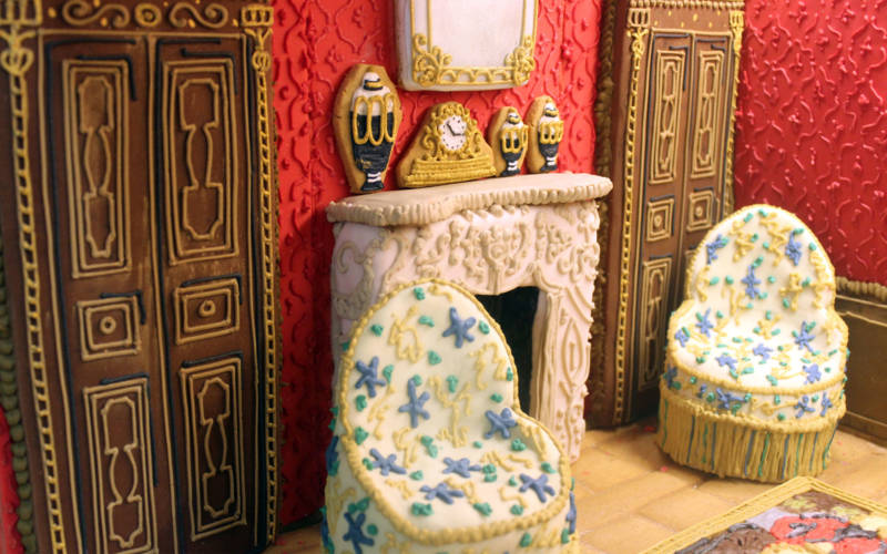 Waddesdon drawing room made in gingerbread