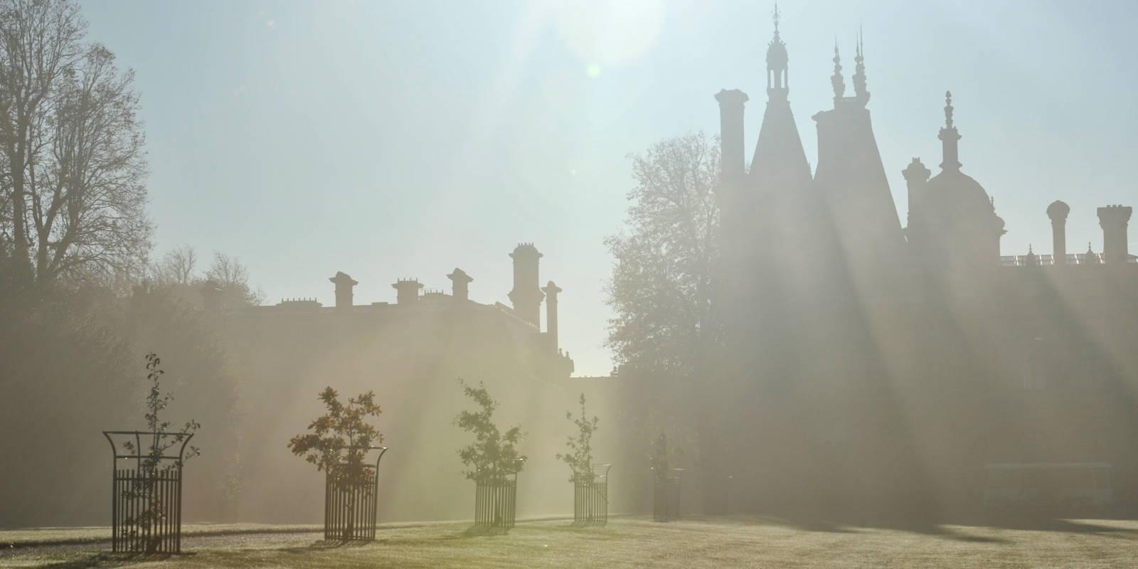 Waddesdon manor in the mist