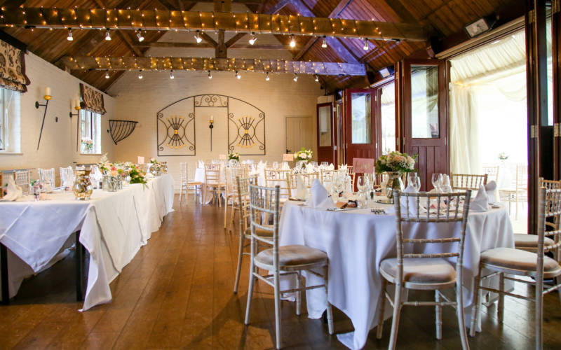 Five Arrows Hotel, Old Coach House, Wedding tables