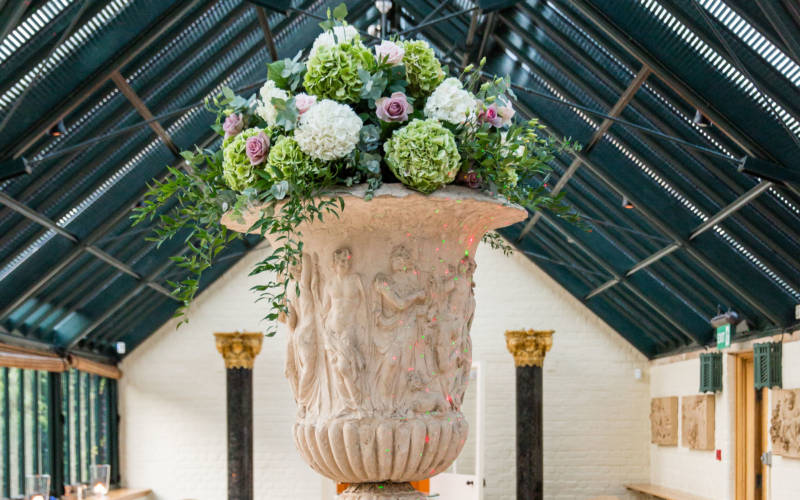 a bouquet of flowers at the Wintergarden in the Dairy