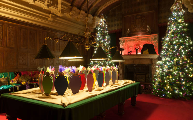 Billiard room at Christmas