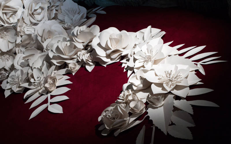Paper flowers decorations
