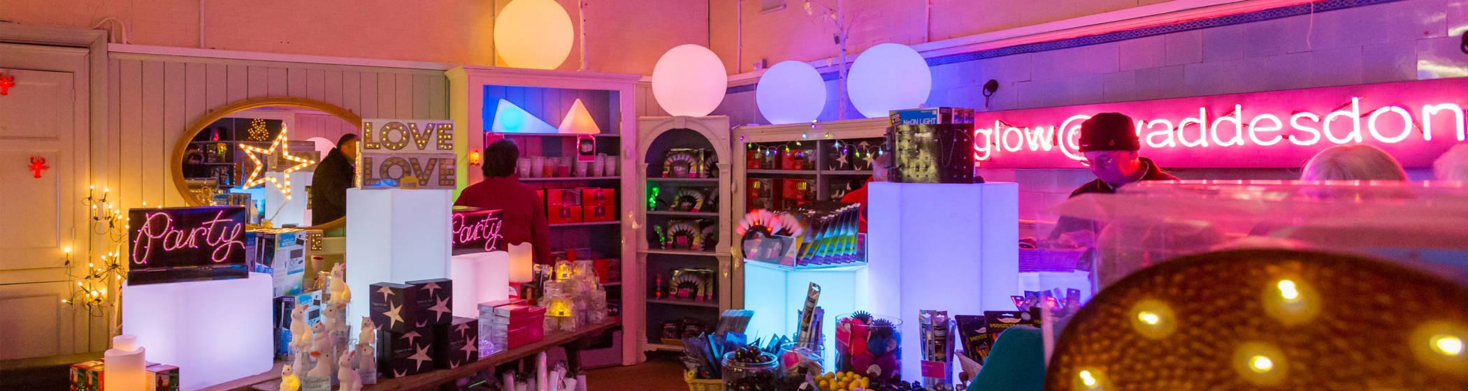 glow shop neon christmas