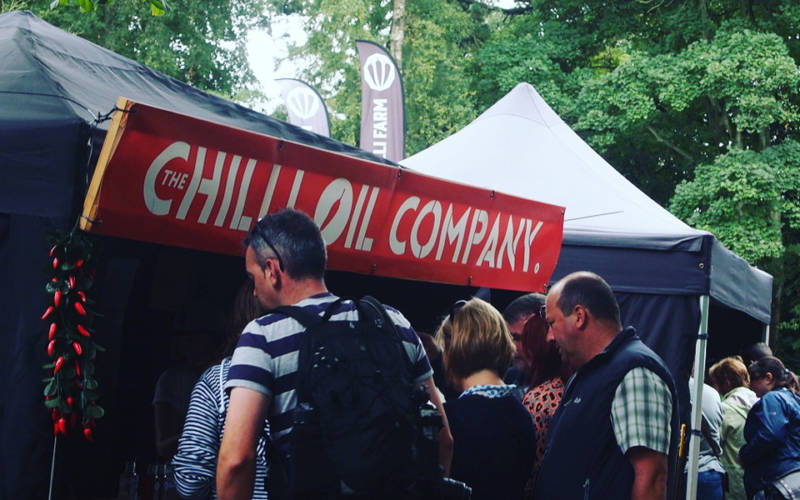 events chilli festival stall
