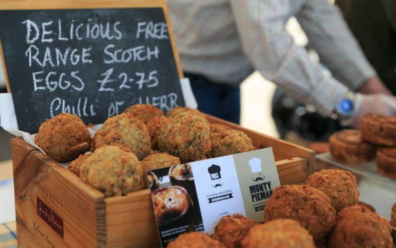 Pictures of food at Waddesdon's Artisan Food Market