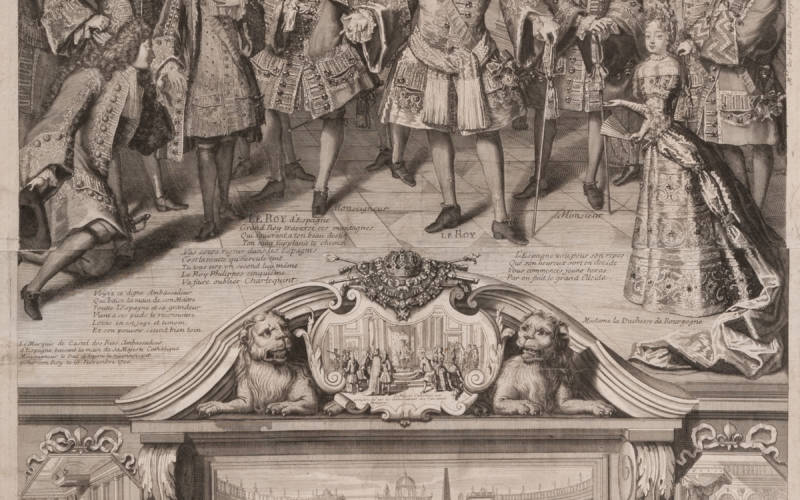 The King declares the Duke of Anjou the King of Spain