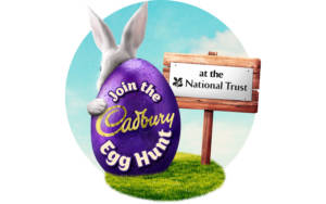 Cadbury Egg Hunt at the National Trust logo