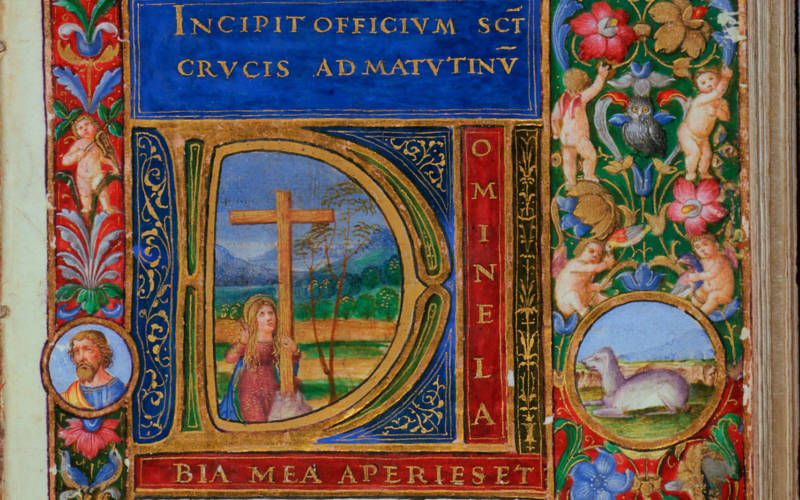 Book of hours decorated for the wedding of Maddalena de'Medici and Gherado Cybo.