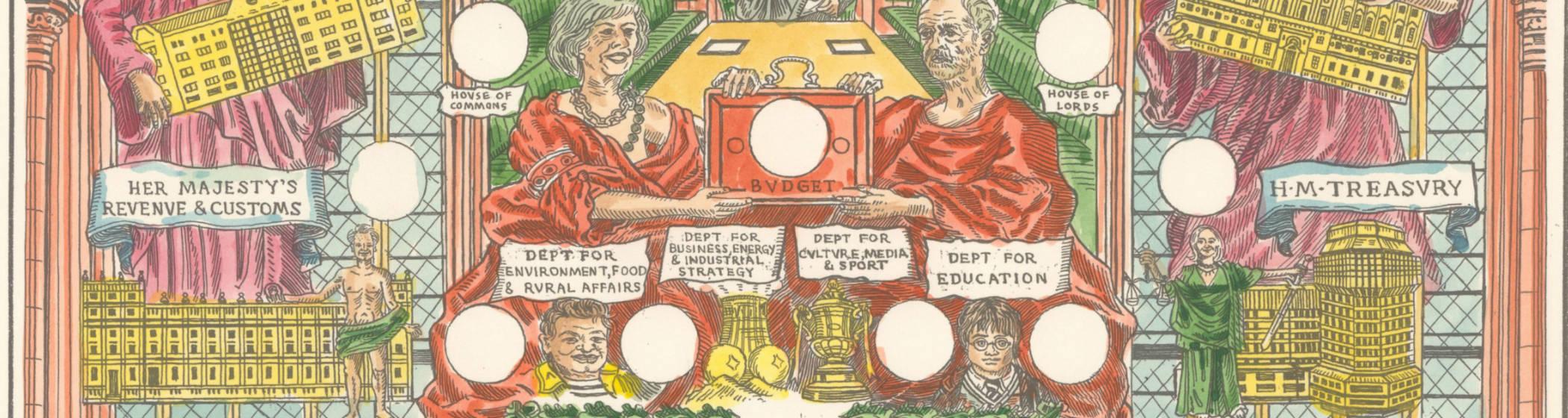 Almanac by British artists Adam Dant