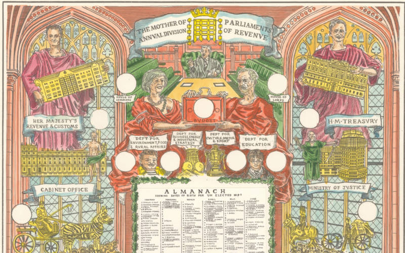 Almanac by British artists Adam Dant