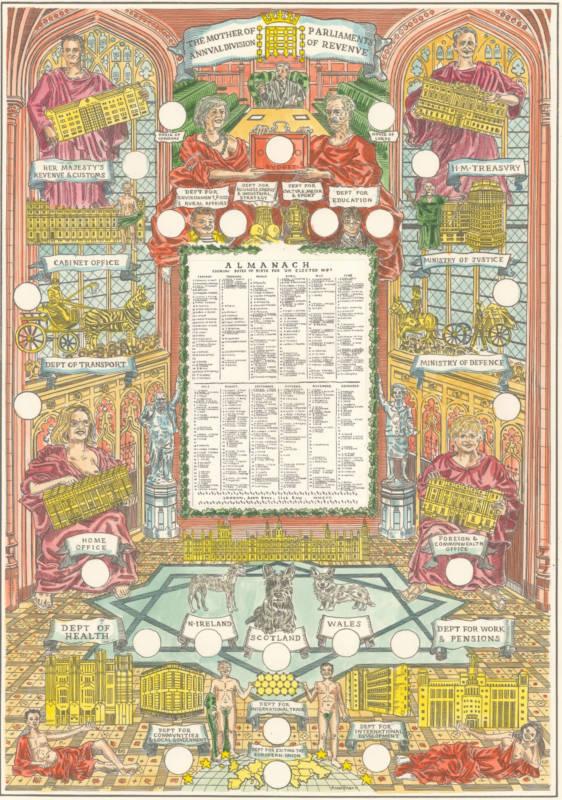 Almanac by British artist Adam Dant