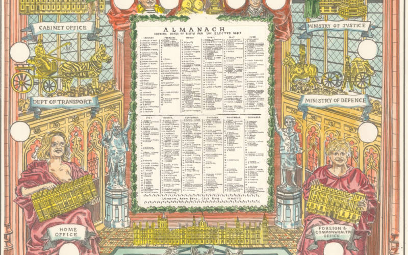 Almanac by British artist Adam Dant
