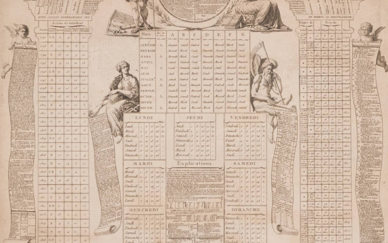 September's almanac - National Calendar, calculated for 30 years, 1792