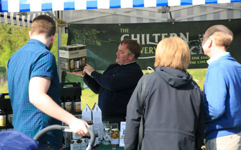 The Chiltern Brewery's stall at the Artisan Food Market