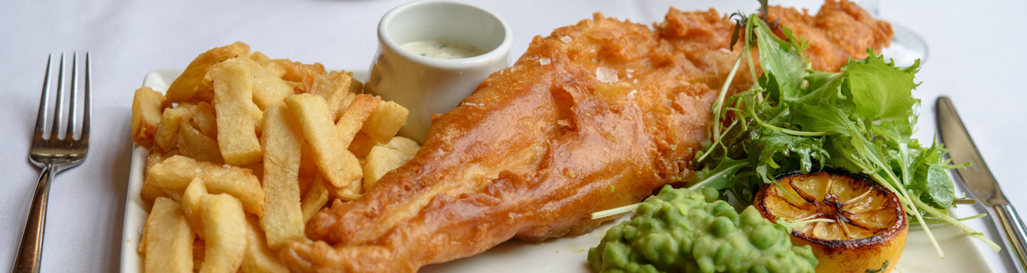 fish and chips in the manor restaurant